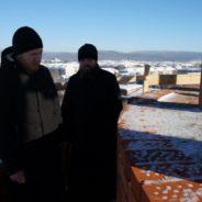 Архипастырь ознакомился с ходом строительства Никольского собора в городе Белорецке