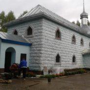 Строительство колокольни храм в честь иконы Божией Матери «Державная» (г. Межгорье)